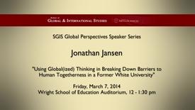 Thumbnail for entry Global Perspectives Series: Jonathan Jansen