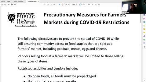Thumbnail for entry Food Safety Best Practices | Indiana Uplands Food Network Webinar