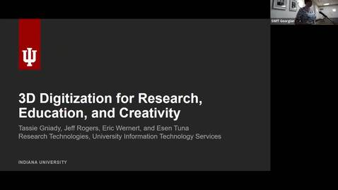 Thumbnail for entry Statewide IT 2018 - 3D digitization for research, education, and creativity