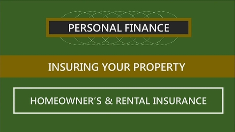 Thumbnail for entry F251 09-2 Homeowner's & Rental Insurance