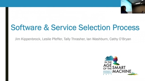 Thumbnail for entry Breakout session | Software and service selection process