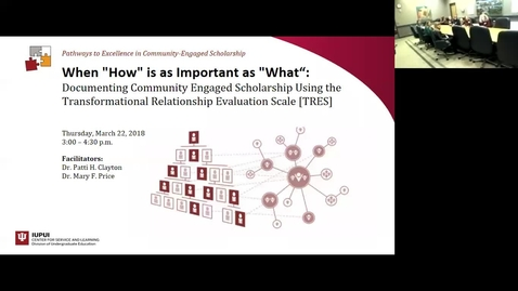 Thumbnail for entry Documenting Community Engaged Scholarship Using TRES -03/22/2018
