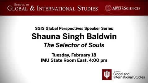Thumbnail for entry Global Perspectives Series: Shauna Singh Baldwin