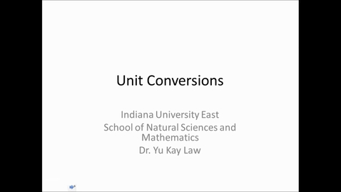 Thumbnail for entry Unit Conversions - One Conversion Factor Only