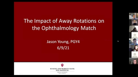 Thumbnail for entry The impact of away rotations on the ophthalmology match