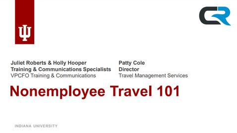 Thumbnail for entry Non-Employee Travel 101