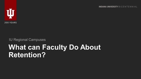 Thumbnail for entry Faculty Role In Retention