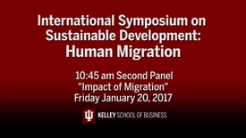 "Thumbnail for entry CIBER Symposium on Human Migration & Sustainable Development: ""Impact of Migration"" - Jan. 20, 2017"