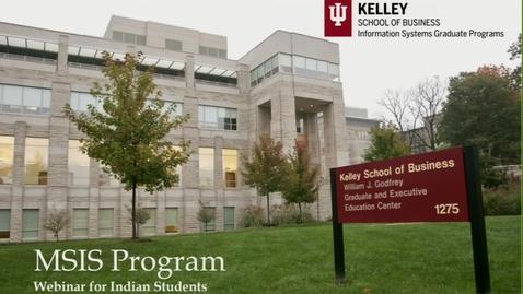 Thumbnail for entry Kelley MSIS Online Information Session / Webinar