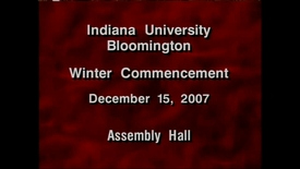 Thumbnail for entry 2007 Winter Commencement