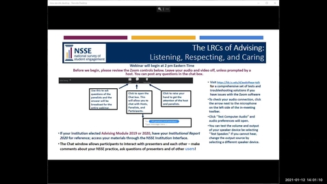 Thumbnail for entry The LRCs of Academic Advising—Listening, Respecting, and Caring