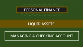 Thumbnail for entry F152 04-2 Managing a Checking Account