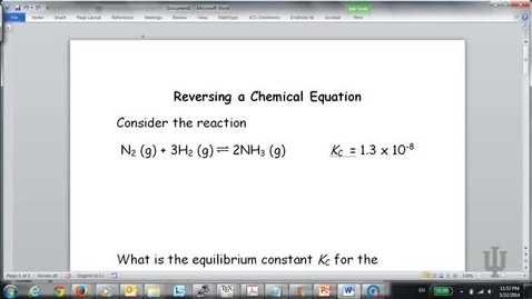 Thumbnail for entry Manipulating Equilibrium Constants