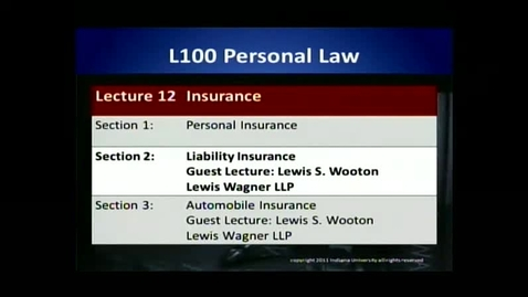 Thumbnail for entry L100 12-2 Liability Insurance
