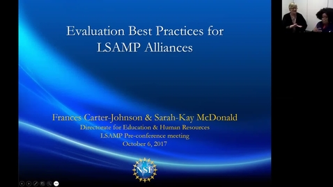 Thumbnail for entry LSMCE Webinar: Evaluation Best Practices for LSAMP Alliances