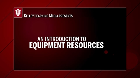 Thumbnail for entry Equipment Checkout Introduction
