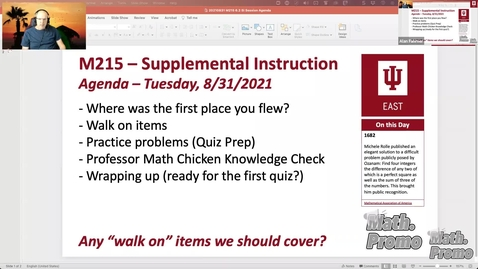 Thumbnail for entry FA21 M126 Week 2 Session 1 – Student Questions, Quiz Prep, & Section 6.2