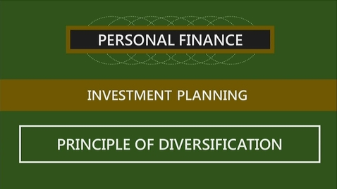 Thumbnail for entry F251 10-3 The Principle of Diversification