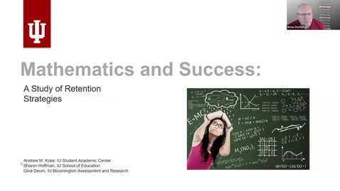Thumbnail for entry Mathematics and Success: A Study of Retention Strategies