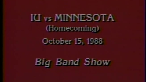 Thumbnail for entry 1988-10-15 vs Minnesota - Halftime (Homecoming)