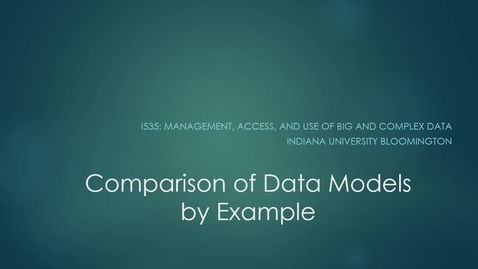 Thumbnail for entry Data Models by Example