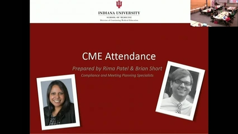 Thumbnail for entry CME RSS Coordinator Workshop - Attendance