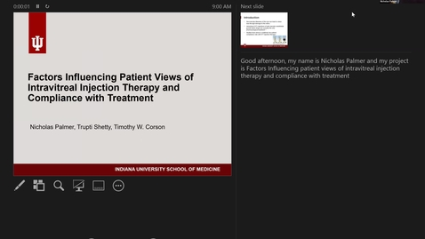 Thumbnail for entry Factors influencing patient views of intravitreal injection therapy and compliance with treatment