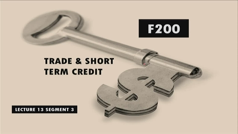 Thumbnail for entry F200 13-3 Trade & Short Term Credit