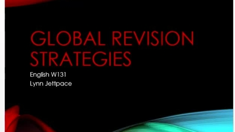 Thumbnail for entry Global Revision Strategies