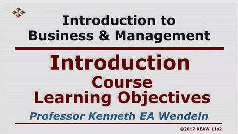 Thumbnail for entry W200 01-2 Course Learning Objectives