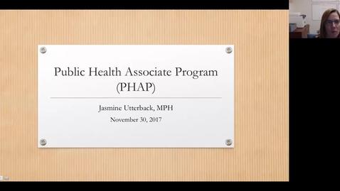 Thumbnail for entry Public Health Associates Program (PHAP) Webinar