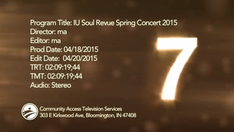 Thumbnail for entry IU Soul Revue Spring Concert 2015