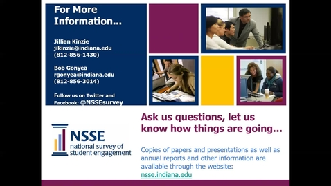 Thumbnail for entry Your NSSE Institutional Report 2018: Step by Step