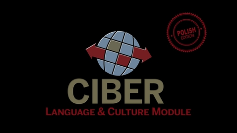 Thumbnail for entry IU CIBER Polish Language & Culture Modules 1: Series Introduction