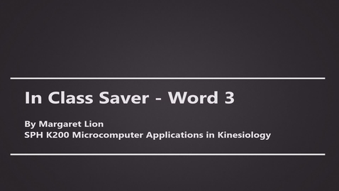 Thumbnail for entry In-Class-Saver-Word-3-K200