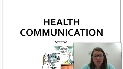 Thumbnail for entry Health Communication