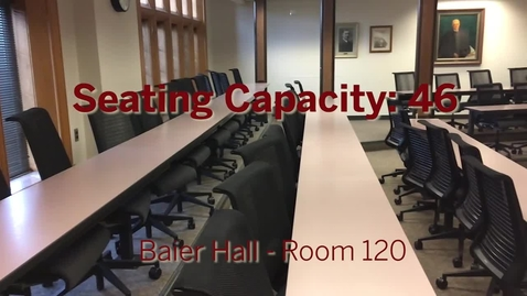Thumbnail for entry Baier Hall Room Tour - Room 120 - Classroom