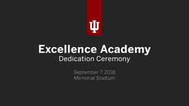 Thumbnail for entry Excellence Academy Dedication