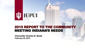 Thumbnail for entry 2015 IUPUI Report to the Community