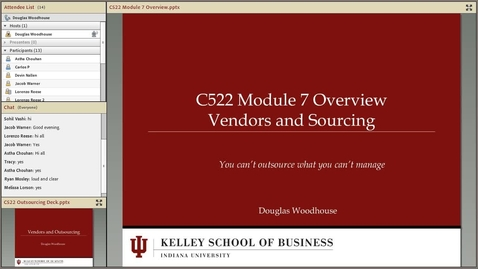 Thumbnail for entry dwoodhou MP4s_C522 Woodhouse_C522 Woodhouse Module 7 Vendors and Outsourcing Overview