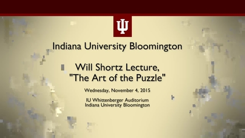 Thumbnail for entry Will Shortz Lecture