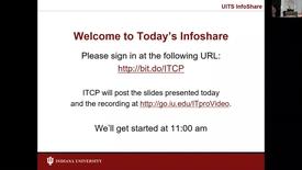 Thumbnail for entry Infoshare:  Single Sign On Using SAML 27 June 2017