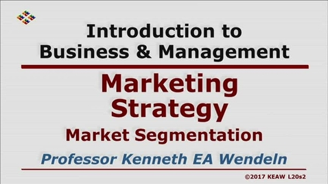 Thumbnail for entry W200 20-2 Market Segmentation