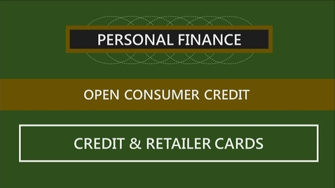 Thumbnail for entry F251 05-2 Credit & Retailer Cards