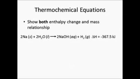 Thumbnail for entry Thermochemical Equations