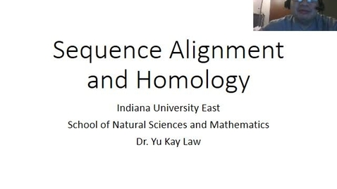 Thumbnail for entry Sequence Alignment and Homology