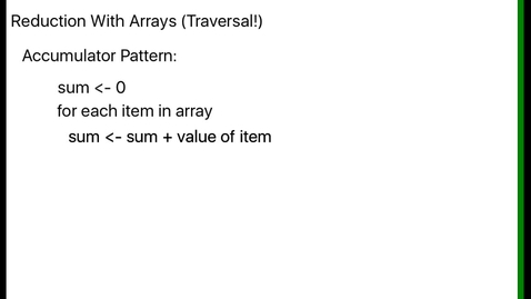 Thumbnail for entry Traversing an array to perform a reduction