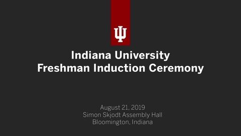 Thumbnail for entry 2019 Freshman Induction Ceremony