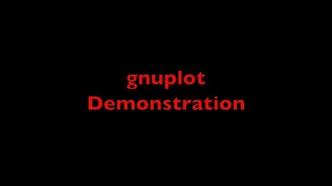 Thumbnail for entry L22 gnuplot Demo