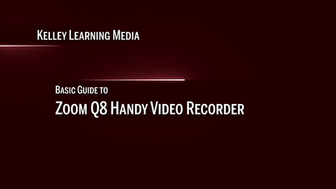 Thumbnail for entry The Zoom Q8  Handy Video Recorder camera